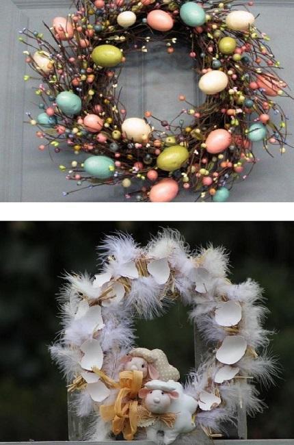 81efb921c8 Veľkonočná dekorácia na dvere môže mať rôzne podoby. Použite napríklad  starú krhlu ako vázu. Naaranžujte do nej kvety